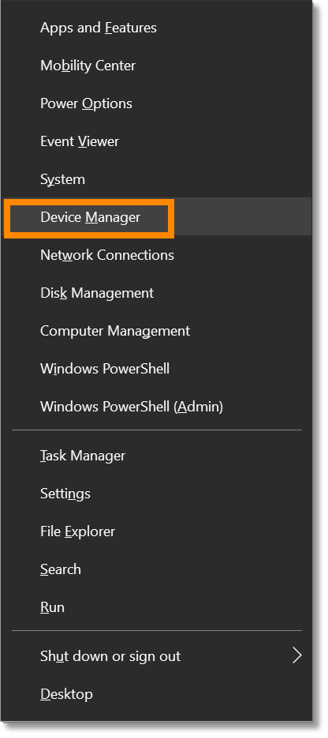 Click Device Manager.