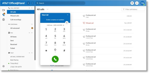 Additionally, you can provide a single number for HD VoIP calling, text messages, and online fax.