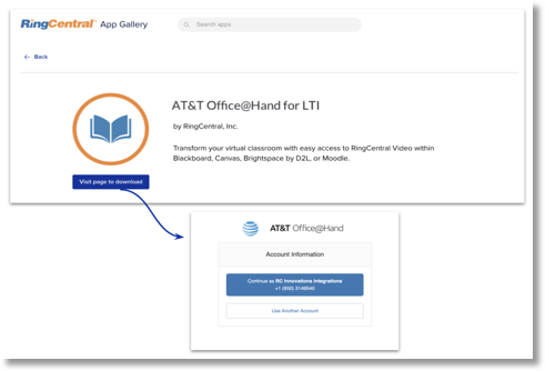 A university LMS administrator will be able to find the integration from the RC app gallery listing.